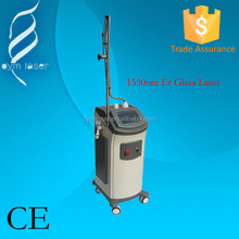 2015 High quality MLA(micro lens array) 1550nm fractional Erbium Glass Laser Acne scar removal