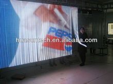 Hd p20 indoor transparent glassy look led video screen full color
