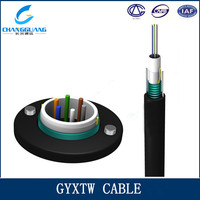 Factory Supply 10 Core Multi Mode Unitube Fiber Optic Cable GYXTW
