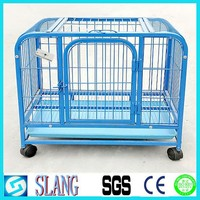 Heavy duty galvanized large dog kennel with wheels