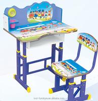 simple wooden adjustable children study desk