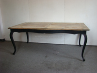 European furniture reclaimed wood dining table
