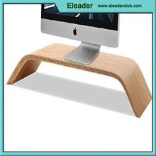 Natual Real Wood Birch & Walnut Screen Monitor Stand Holder for Apple iMac