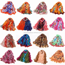 women fashionable colorful silk scarf