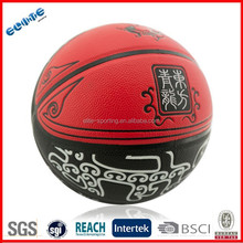 Laminated PU rubber indoor outdoor basketballs for training