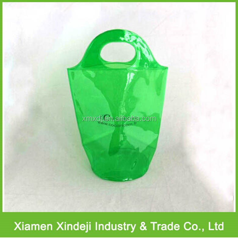 Clear PVC Wine Bag/ Ice Bag For Wine
