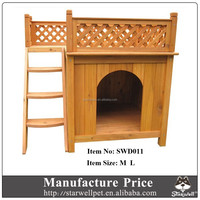 Manufacture price waterproof roof decorative the wooden dog kennel