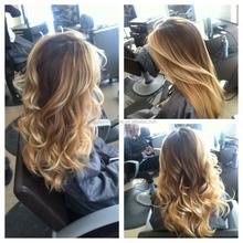 top fashion european human hair ombre color wavy monofilament wig