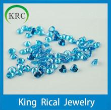 Customize/Wholesale heart shape ocean blue glass gems