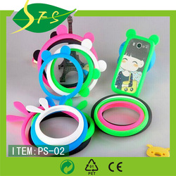 hot sell universal glowing ring case silicon bumper case universal silicone phone case