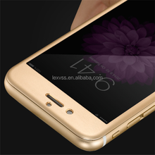 Bubble free Aluminum alloy & tempered glass screen film for iPhone 6 with anti-shock