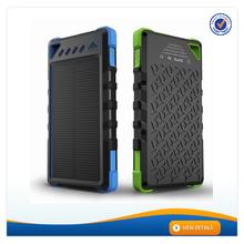 AWC088 waterproof IP6 portable 10000mah solar dual usb external battery solar battery backpack 8000mAh high power solar charger