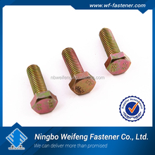 china top quality High quality American used Long hex head bolt Long wedge bolt in formwork galvanized hex bolt and nut