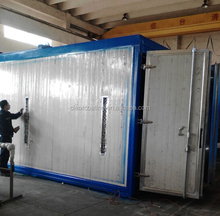 gas/oil/electric heating tube powder coating oven with Clear brand