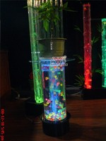 Floor standing organic glass bubble coffee table fish tank