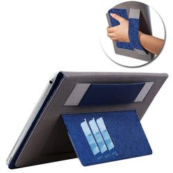 Silk Texture Leather Case for iPad Air with 3 Card Slots and Elastic Belt
