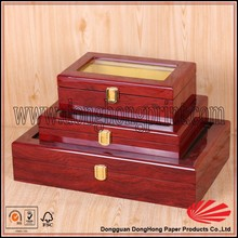 2015 factory price packing wooden box wooden gift box with bed design