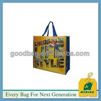 bolsa de praia tote tecido laminado de moda ,MJ-LW0448-Y, China Supplier