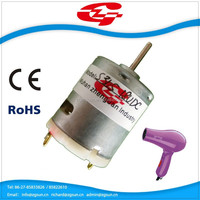 18V micro dc motor for hair dryer with high speed S365