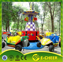 Super fun and high quality amusement park rides kids back yard crazy flying car rides