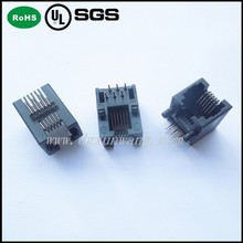 RJ 45 connector Side Entry PCB Jack , RJ11 , 6P6C ,Tab Down,Unshielded Type