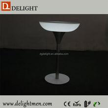 Plastic battery power night club lighting illuminated led table/ led tv table design/ led nesting end table
