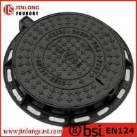 en124 ductile iron sewer manhole covers made in china