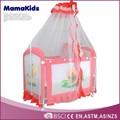 Con mosquito de las capas dobles de cuna del bebé bebé cunas y cunas