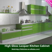 OEM/ODM modular kitchen design for lacquer kitchen cabinet with free 3D designs & CAD pictures