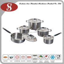 10Pcs Cheap professional stainless steel pots cookware