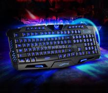 Blue Red Purple Three Color Backlight M200 Multimedia Ergonomic Gaming Keyboard