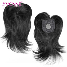 Top quality natural human hair toupee for women