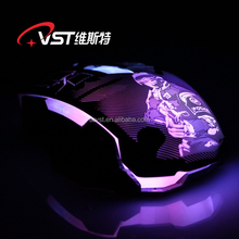 CS Fighting gamer's optical gaming mouse with fabric unbreakable USB wire/hot sale mouse