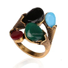 Fashion Jewelry Combinations Turquoise Gold Vintage Rings For Women