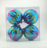 2015 hot selling prismatic wholesale large plastic ball christmas ornaments