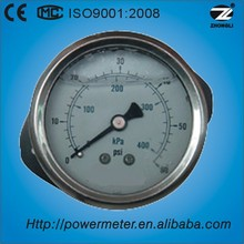 """1.5"""" 40mm CE certification shockproof oil filled pressure guage back connection manometer for china manufacture"""
