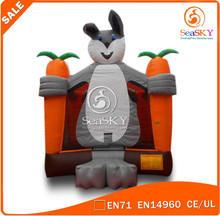 Customized adult bouncy castle inflatable , inflatable animal castle