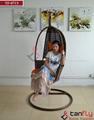 tf-9715 Cómodo patio de jardín de mimbre silla del oscilación/de mimbre silla de la hamaca