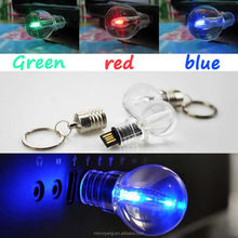 Waterproof 8GB Gift LED Bulb Model USB 2.0 Memory Flash Stick Pen Drive 3 Color