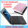 Mini Pocket Notebook Computer with 10 inch Ultra Slim