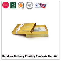 Lid&base style paper t-shirt gift box packaging with ribbon
