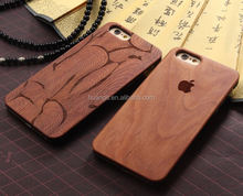 2015 new products Totem designs engraved Rosewood phone case blank wood case for iphone made in china