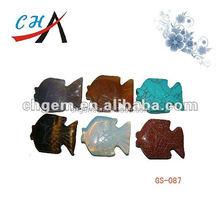 many kind shape of carved animal gemstones