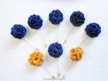 felt rose flower wedding brooch with layered flower wedding decoration corsage