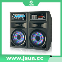 Professional speaker with disco light