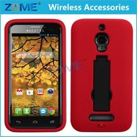 Best Quality Phone Case /Cover for Alcatel 7024W /One Touch Fierce ,New Product Hybrid Skin Case with Vertical Stand