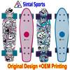 "Plastic Complete Cruiser Penny Style Skateboard Board 22"""