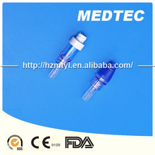 Disposable medical closed needleless infusion and IV connector system