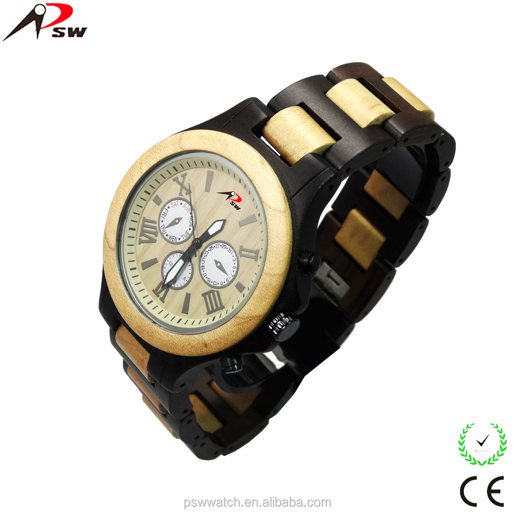 Christmas gift wholesale wood watch big face wood watch