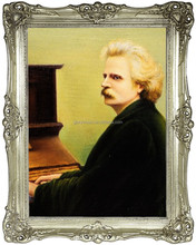 Portrait of Edvard Grieg , Painting, Oil Handmade Painting